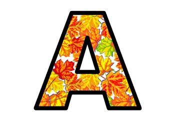Fall, Autumn, Maple Leaves Bulletin Board Letters, Classroom Decor, Canada Decor