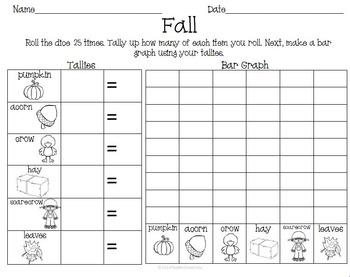 Fall Autumn Math Activity Pack Set