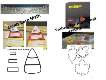 Fall (Autumn) Math Bulletin Board and Activities