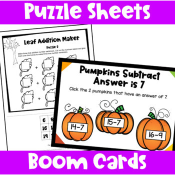Fall Activities: Fall Math Games, Puzzles and Brain Teasers: Fall Math Center