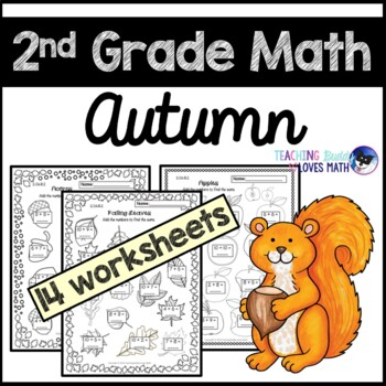 Autumn Math Worksheets Fall 2nd Grade Common Core