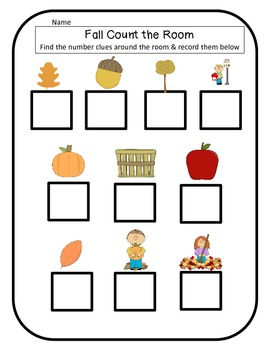 Fall & Autumn Math and Literacy Centers