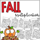 Fall Autumn Multiplication Color by Number