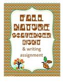 Fall/ Autumn Nature Ecology Outdoor Scavenger Hunt & Writing Assignment