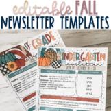 Fall / Autumn Newsletter Templates