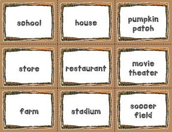 Fall / Autumn Noun Sort