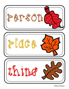 Fall / Autumn: Nouns Sort Practice
