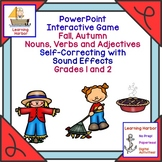 Fall Autumn Nouns Verbs and Adjectives  Self Correcting In