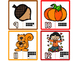 Fall/Autumn Number Matching Number Puzzles (1-20) / Fall M