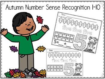 Fall Autumn Number Sense 1-10