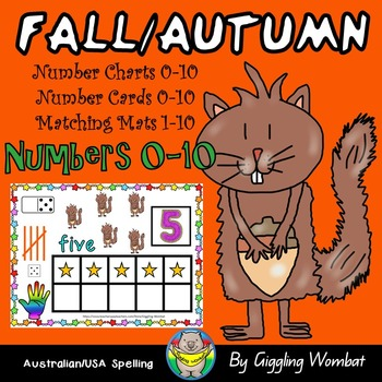 Fall Autumn Numbers 0-10