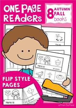 Fall / Autumn One Page Readers - Printable Flip Books