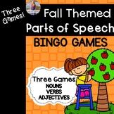 Fall/Autumn Parts of Speech BINGO (3 games!)