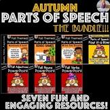 Fall/Autumn Parts of Speech BUNDLE