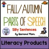 Fall/Autumn Parts of Speech Silly Sentences