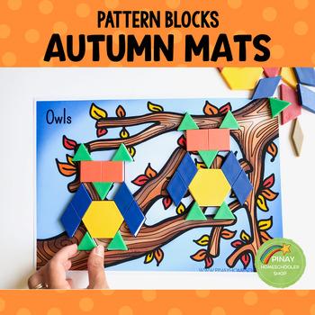 Fall Autumn Pattern Blocks Puzzle Mats