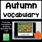 Fall (Autumn) Picture and Word Cards (ELL, ESL, Vocabulary)