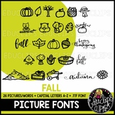 Fall/Autumn Picture Font {Educlips Clipart}