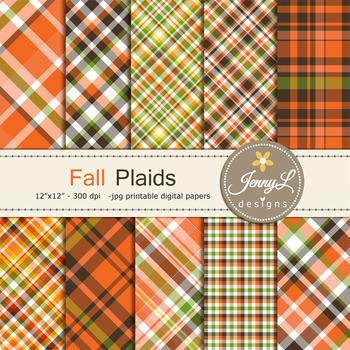 Fall Autumn Plaid digital paper