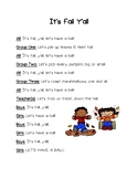Fall Autumn Theme Rhyming Poems for Fluency and Fun