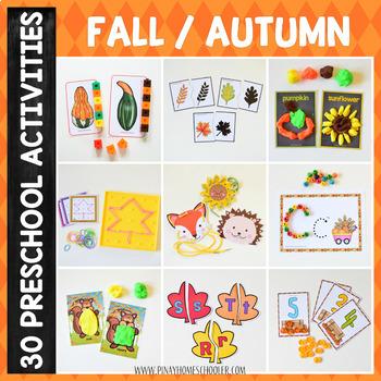Fall Autumn Preschool Unit