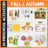 Fall Autumn Preschool/ Kindergarten Unit - Math and Literacy Centers