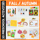 Fall Autumn Preschool/ Kindergarten Unit - Math and Literacy Centers