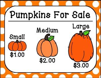 Fall/Autumn Pumpkin Patch Dramatic Play Center