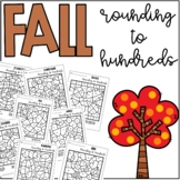 Fall Autumn Rounding to Hundreds Coloring