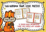 Fall / Autumn Shape Logic Puzzles