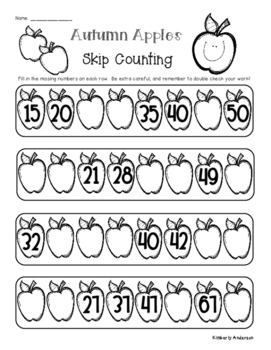 Fall / Autumn Skip Counting and Number Sequencing Patterns