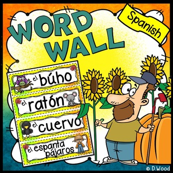 Spanish Word Wall  (Fall/ Autumn/ October)