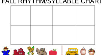 Fall/Autumn Syllable/Rhythm Interactive Chart- Smartboard