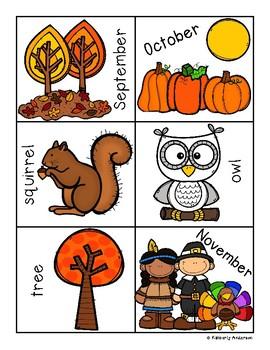 Fall - Autumn Syllables Sort Practice