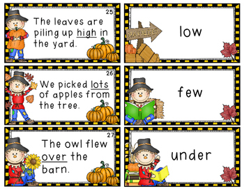 Synonyms & Antonyms Game (Fall Themed): 40 Sets of Task Cards!