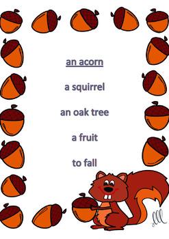Fall - Autumn Taboo Speaking Game in English