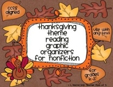 Fall Autumn Theme Graphic Organizers for Nonfiction/Inform