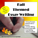 Fall (Autumn) Themed Essay Writing, w Rubrics & Printables