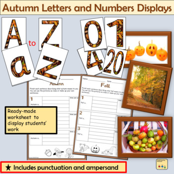 Fall/Autumn-Themed Lettering Numbers Display Punctuation, Math Signs Fall Photos