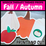 Fall / Autumn Themed Pictures for Speech Therapy / Virtual