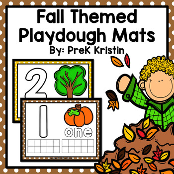 Fall/Autumn Themed Counting (Playdough) Mats: #0-20