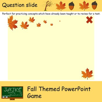 Fall / Autumn Themed PowerPoint Review Game