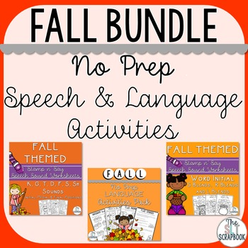 Fall/Autumn Themed Speech and Language Bundle
