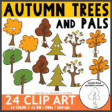 Fall/Autumn Trees and Pals Clip Art