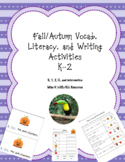 Fall/Autumn Vocab, Literacy, and Writing unit for K-2 newc
