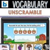 Fall/Autumn Vocabulary Unscramble Boom Cards™