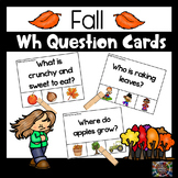 Fall Autumn Wh Question Clip Cards