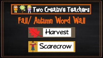 Fall Autumn Word Wall