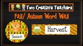 Fall Autumn Word Wall with Circle Words