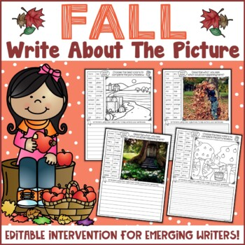 Fall Themed Picture Writing Prompts | Autumn Writing Activities